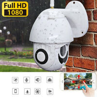 Wireless 5X Zoom HD 1080P Wifi Outdoor Waterproof IP Camera Security TF EU