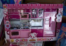 Set cucina completa per bambola altezza barb gioco di qualità giocattolo toy