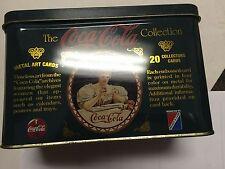 Coca-Cola Tin 20 METAL ART COLLECTOR CARDS Timeless Advertising Art 1994 NEW