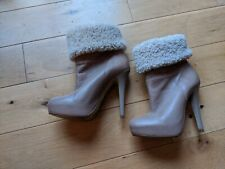 BARELY WORN NUDE TOPSHOP boot heels booties 39 / 6