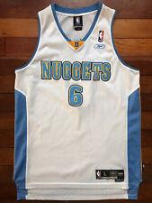 Kenyon Martin Men's Large L Denver Nuggets Reebok Swingman NBA Jersey White