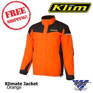 Klimate Parka Orange Men's Snowmobile Jacket (Non-Current) Sizes MD, LG