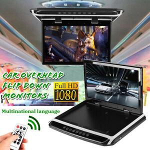 180° Flip  15.6'' HD1080p Car Roof Mount Car Ceiling Flip Down TV Digital Screen