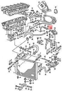 Genuine AUDI VW 100 Avant Quattro 200 5000 Turbo water cooling pump 034965561C