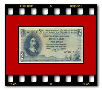 SOUTH AFRICA P-105b 2 RAND ND 1965 BANKNOTE Jan van Riebeeck AU