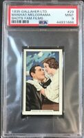1935 Gallaher SHOTS FROM FAMOUS FILMS 29 Clark & Loy MANHATTEN MELODRAMA PSA 9