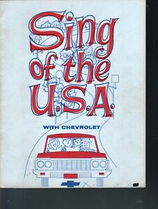 Sing of the USA With Chevrolet - Advertising Sheet Music