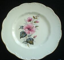 J & G MEAKIN STERLING COLONIAL IRONSTONE Pink Flowers 10 inch Plate x1 (4 avail)