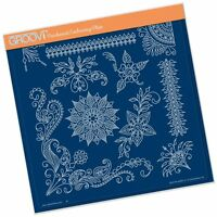 CLARITY STAMP GROOVI Parchment Embossing Plate TINA HENNA CORNERS 2 GRO-FL-40663