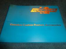 1966 CHEVROLET CAR & TRUCK CUSTOM FEATURE ACCESSORIES DEALER ALBUM RARE ORIGINAL