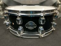 """ddrum Maple Shell 5.5"""" x 14"""" Black Lacquer Snare Drum"""
