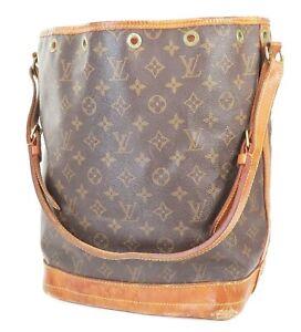 Authentic LOUIS VUITTON Noe Monogram Shoulder Tote Bag Purse #39070