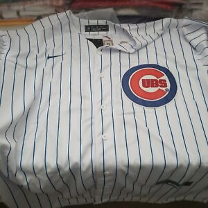 CHICAGO CUBS # 9 JAVIER BAEZ WHITE JERSEY. SIZE XX- LARGE
