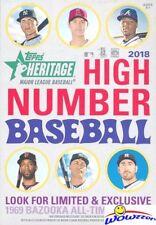 2018 Topps Heritage High Number Baseball Factory Sealed HANGER Box! On Fire!