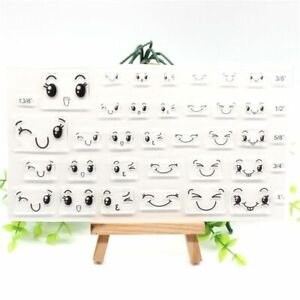 Face Transparent Silicone Stamps For DIY Scrapbooking Card Making Fun Decoration
