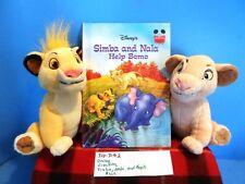 Disney The Lion King Simba and Nala plush and book(310-3192)
