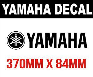 YAMAHA sticker LOGO pair vinyl cut sticker 370mm decals outboards CHOOSE COLOUR
