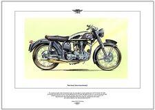 NORTON INTERNATIONAL - Motor Cycle Fine Art Print - 350 & 500cc single motorbike