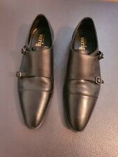 Frank Wright Leather Monk Shoes Size 8
