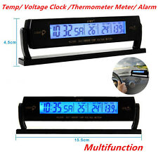 Auto Car Multifunction Temperature Voltage Clock Digital LCD Thermometer Meter