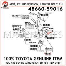 48660-59016 GENUINE OEM ARM, FRONT SUSPENSION, LOWER NO.2 RH 4866059016