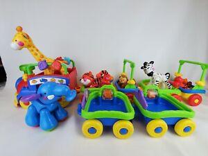 Fisher Price Amazing Animals Sing Go Choo Choo Train Toy Set Music Lights Moves!