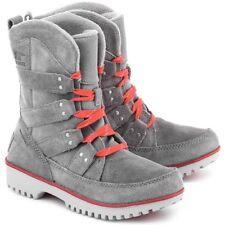 New!!! Sorel Meadow Lace Raincoat Light Gray Women's Suede Boots Size 8