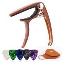 Guitar Capo for Acoustic Electric Guitars Ukulele Zinc Alloy (Wood grain)