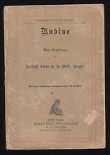 Undine fairy-tale novella  by De La Motte Fouque German Edition Henry Holt & Co