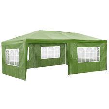 Gazebo da giardino tendone tenda per festa party con parti laterali 3x6 m verde