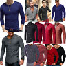 À Manches Longues Fashion Hommes Bodybuilding Casual Fitness T-shirt Tops épaule
