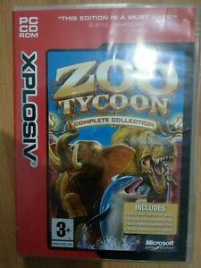 Zoo Tycoon Complete Collection PC DVD ROM 2003 Microsoft Game Studios Xplosiv