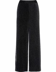 Chiffon Overlay Jersey Wide Leg Trousers - Ladies Womens - Klass Collection