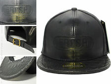 Xmas Gift 2017 New Hot Black Leather FRESH Snapback Baseball Cap Men Era Dope...