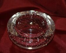 vintage WHITEFRIARS art glass bowl ashtray controlled bubbles clear heavy VGVC