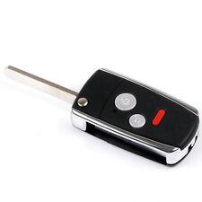 Remote Key Fob For Honda Civic Odyssey Ridgeline 3Button Flip Folding Case Shell
