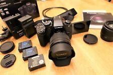 Panasonic LUMIX G85 4k Camera - w/ 12-60mm & 25mmF1.7 lenses, 3 batteries, &ND!