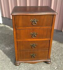 Antique Mahogany Sewing Cabinet Lift Top with Tray 1930s Era