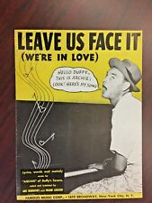 Vintage Sheet Music 1944-Leave Us Face It-We're In Love-Archie-Duffy-Song