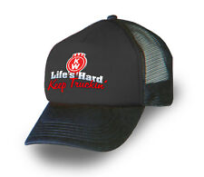 KENWORTH TRUCKER CAP/HAT BLACK KENWORTH CAP BLACK 'Keep Truckin Life's Hard