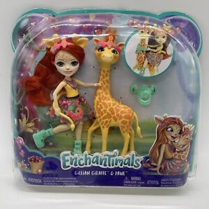 Enchantimals Gillian Giraffe And Pawl Doll Figures New in Package