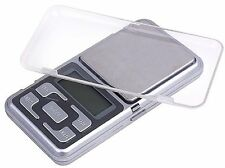 HIGH PRECISION DIGITAL LCD POCKET SCALE 500G X 0.1G JEWEL/HERBS