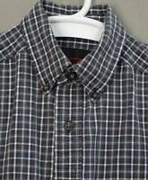 Riggs Workwear Wrangler mens shirt size S cotton plaid brown white pocket logo