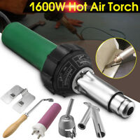1600W 220V Hot Air Plastic Welding Gas Torch Gun Heat Welder Pistol Nozzle Tool