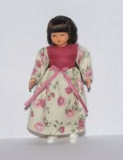 Girl in Pink Flower Dress Dollhouse Miniature People Children 1:12 scale