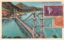 R220132 Santos. Ponte Pensil. Post Card. 1934