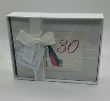 White Cotton Cards Fotoalbum für 30. Geburtstag, klein (EB17)
