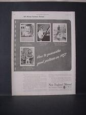 1947 New England Mutual Life Insurance Kids Baby Pics Vintage Print Ad 11683