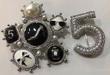 Pin Brooch Faux Pearl Set New number 5