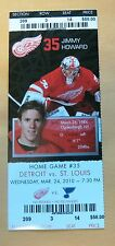 Red Wings Jimmy Howard ticket stub Mar 24, 2010 - $58 Face Value